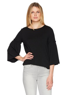 Max Studio Women's French Terry Flared Sleeve Top  S