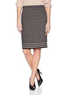 Max Studio Women's Printed Ponte Pencil Skirt  XS