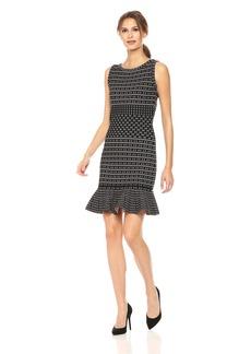 Max Studio Women's Sleeveless Printed Sweater Dress  XS
