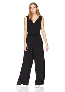 MAXSTUDIO Max Studio Women's Sleeveless Tie Waist Jumpsuit  XL
