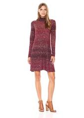 MAXSTUDIO Max Studio Women's Turtle Neck Ombre Sweater Long Sleeve Dress