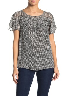 Max Studio Micro Pleat Pleated Blouse