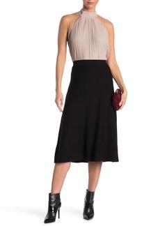 Max Studio Midi Pleated Sweater Skirt