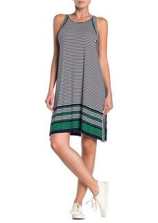 Max Studio Mixed Stripe Sleeveless Jersey Dress