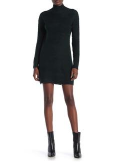 Max Studio Mock Neck Long Sleeve Sweater Dress