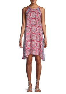 Max Studio Mosiac Print Halter Dress