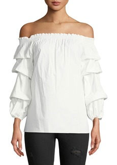 Max Studio Off-The-Shoulder Balloon-Sleeve Blouse