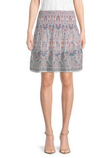 Max Studio Patterned Circle Skirt