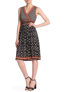 Max Studio Patterned Fit & Flare Dress