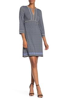 Max Studio Patterned Keyhole Dress