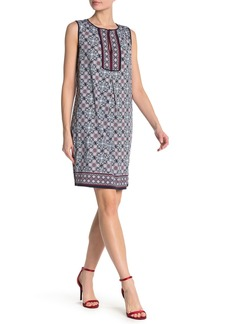 Max Studio Patterned Sleeveless Keyhole Shift Dress