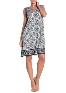 Max Studio Patterned Sleeveless Shift Dress