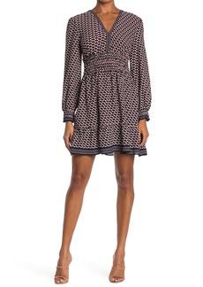Max Studio Patterned Smocked Dress