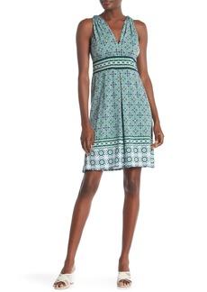 6fab305a62 Max Studio Max Studio Printed Long-Sleeve Short Dress