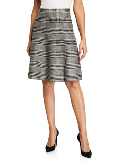 Max Studio Plaid A-Line Skirt