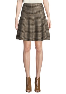 Max Studio Plaid Tulip Sweater Skirt