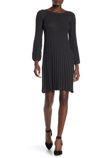 Max Studio Pleated Knit Dress