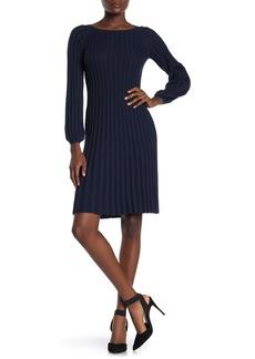 Max Studio Pleated Knit Dress