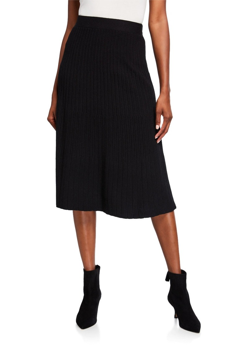 Max Studio Pleated Midi Skirt