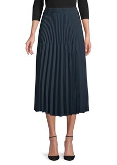 Max Studio Pleated Skirt