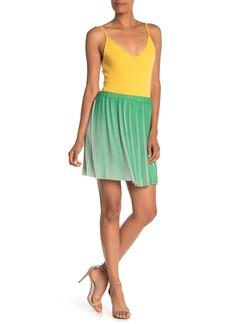 Max Studio Pleated Mini Skirt