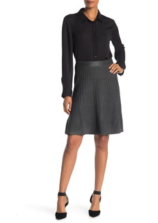 Max Studio Pleated Sweater Skirt