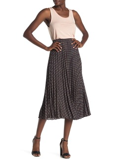 Max Studio Pleated Woven Skirt