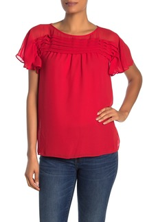 Max Studio Pleated Yoke Blouse