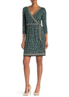 Max Studio Printed 3/4 Sleeve Jersey Dress