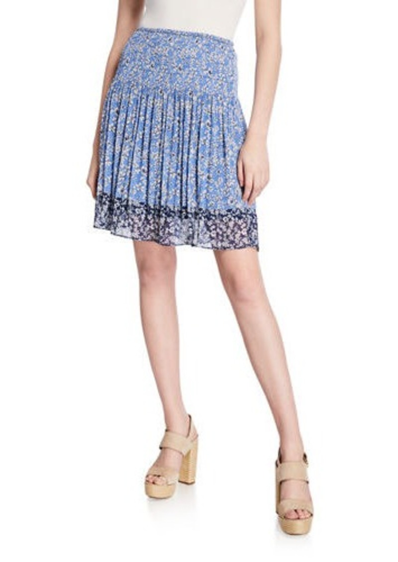 Max Studio Printed A-Line Skirt