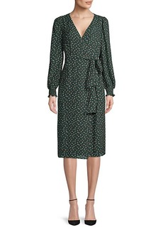 Max Studio Printed Belted Wrap Dress