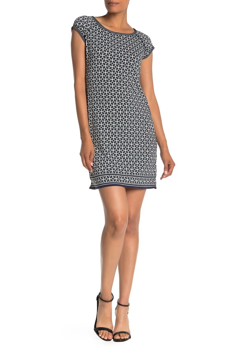 Max Studio Printed Cap Sleeve Dress