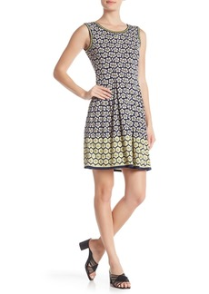 Max Studio Printed Fit & Flare Dress