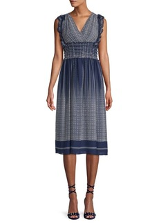 Max Studio Printed Fit-and-Flare Dress