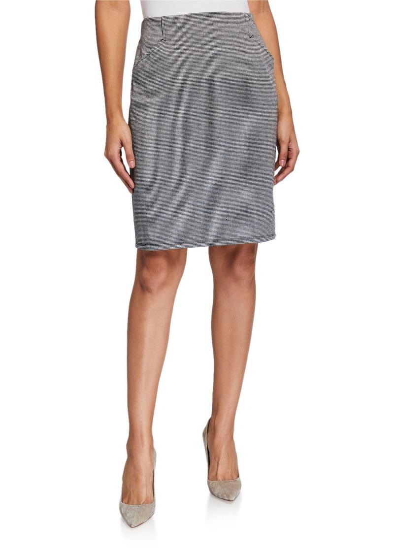 Max Studio Printed Front-Pocket Pencil Skirt