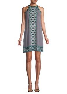 Max Studio Printed Halter Dress