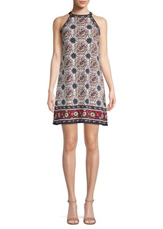 Max Studio Printed Halter Dress