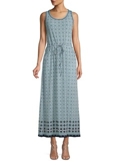 Max Studio Printed Maxi Dress
