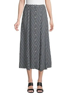Max Studio Printed Midi Skirt