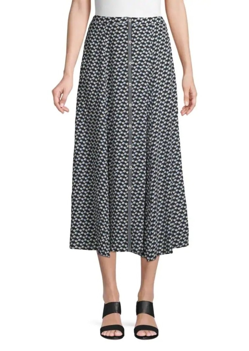 Max Studio Printed Midi Skirt