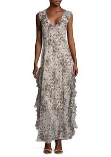 Max Studio Printed Ruffled Dress