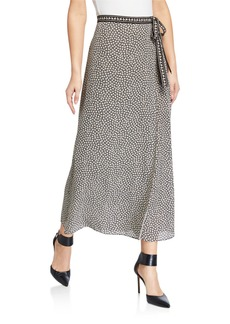 Max Studio Printed Side-Tie Maxi Skirt