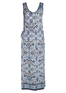 Max Studio Printed Sleeveless Maxi Dress