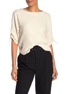 Max Studio Rib Knit Elbow Sleeve Top