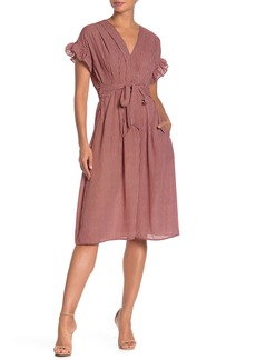 Max Studio Ruffle Sleeve Midi Dress