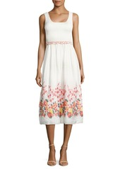 Max Studio Ruffled Floral Dress