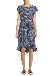 Max Studio Ruffled High-Low Dress