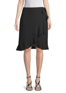 Max Studio Ruffled Knee-Length Skirt