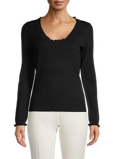 Max Studio Ruffled Sweater
