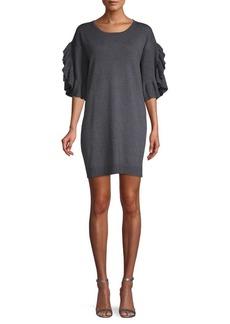 Max Studio Ruffled Sweater Dress